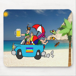 Summer Vacation on Beach Mouse Pad