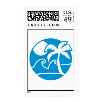 Summer vacation palms stamps