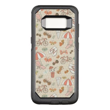 Beach Themed Summer Vacation Pattern OtterBox Commuter Samsung Galaxy S8 Case