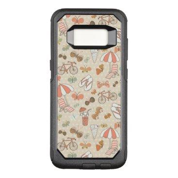 Beach Themed Summer Vacation Pattern OtterBox Commuter Samsung Galaxy S8 Case