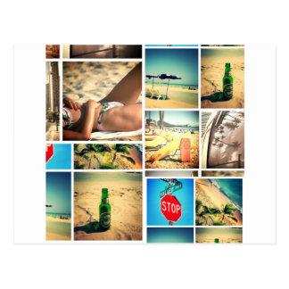 Summer vacation postcard