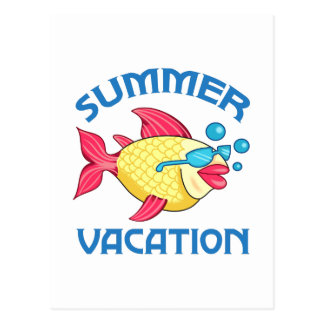 SUMMER VACATION POSTCARD