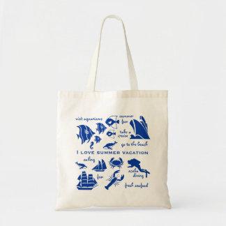 Summer vacation sampler tote bag