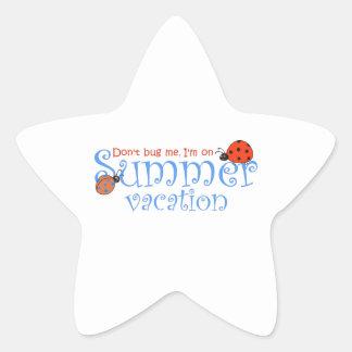 SUMMER VACATION STAR STICKER