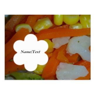 summer vegetables postcard