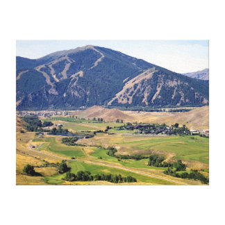 Summer View of the Ketchum/ Sun Valley Area Canvas Print
