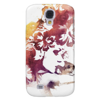 Summer vintage Girl and Flowers Samsung S4 Case