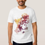 Summer Vintage Girl and Flowers Tee Shirt