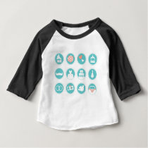 Summer vintage wedding edition : BLUE Baby T-Shirt