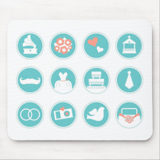 Summer vintage wedding edition : BLUE Mouse Pad