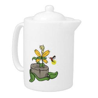 Summer Visitors Tea Pot