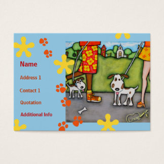 Summer Walk With Dogs and Cats Business Card