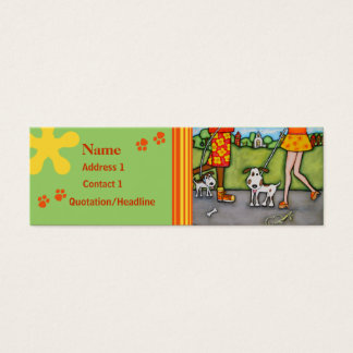 Summer Walk With Dogs and Cats Card