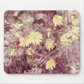 Summer Warmth, Yellow Wild Flowers Mouse Pad