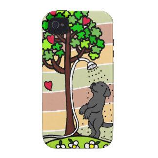 Summer Water Fun Black Labrador Cartoon Vibe iPhone 4 Cover