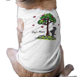 Summer Water Fun Black Labrador Cartoon Dog Tee