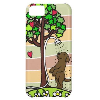 Summer Water Fun Chocolate Labrador Cartoon iPhone 5C Cover