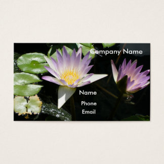 Summer Water Lilies Business Card
