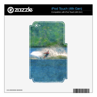 Summer Water-skiier and Lake Decals For iPod Touch 4G