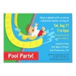 Summer Water Slide Birthday Pool Party Invitation