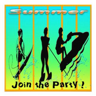 Summer - Water Sports Invitation