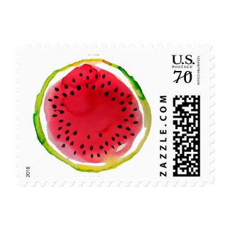 Summer Watercolor Watermelon Postage