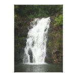 Summer Waterfall Stretched Canvas Print