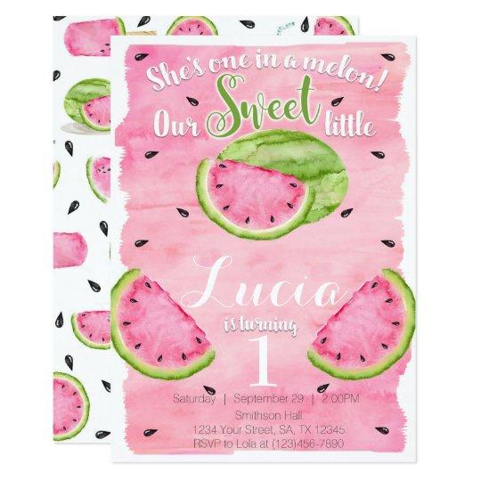 summer watermelon birthday party invitation invite zazzle com