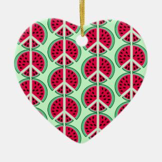 Summer Watermelon Ceramic Ornament