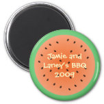 Summer watermelon circle magnet party favor
