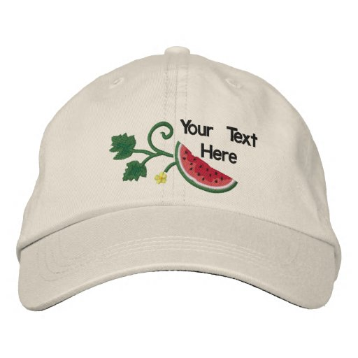 Summer Watermelon - Customize Embroidered Hats