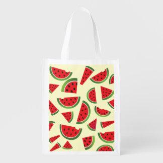 Summer Watermelon Fruit Reusable Market Tote