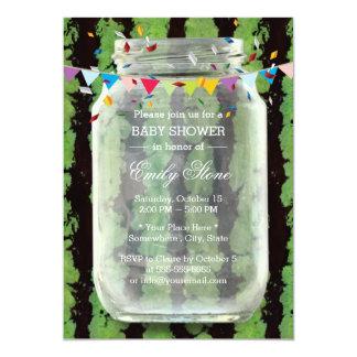 Summer Watermelon Mason Jar Baby Shower Card