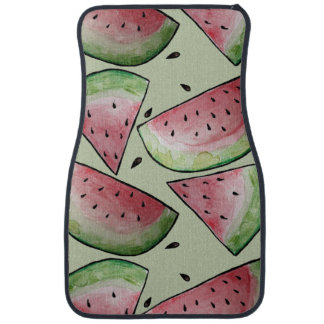 Summer Watermelon Pattern Car Mat