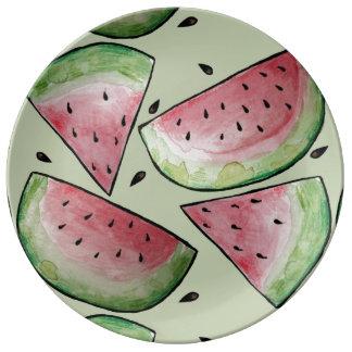 Summer Watermelon Pattern Plate