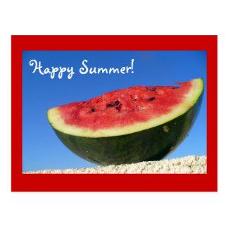 Summer Watermelon Postcard