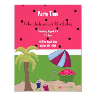 Summer Watermelon Theme Birthday Invitation