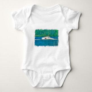 Summer Waterskiier and Lake Baby Bodysuit