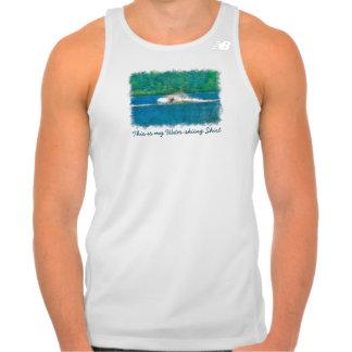 Summer Waterskiier and Lake Tank Top