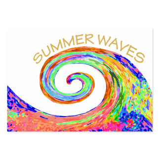 Summer waves large business card