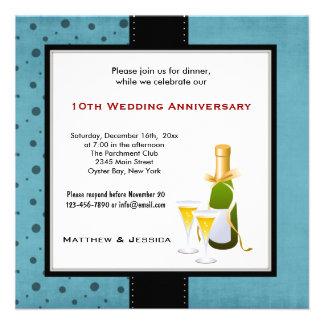 Summer Wedding Anniversary Custom Announcements