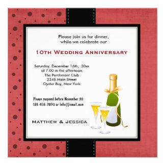 Summer Wedding Anniversary Invitations