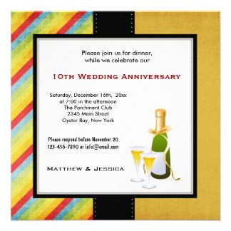 Summer Wedding Anniversary Personalized Invites