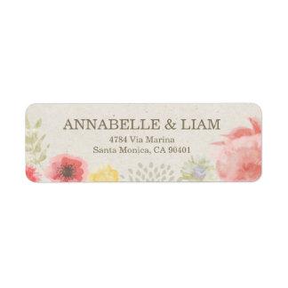 Summer Wedding Invitation Address Label