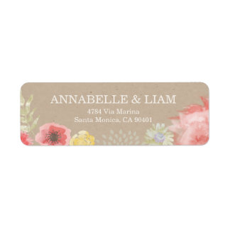 Summer Wedding Invitation Address Label