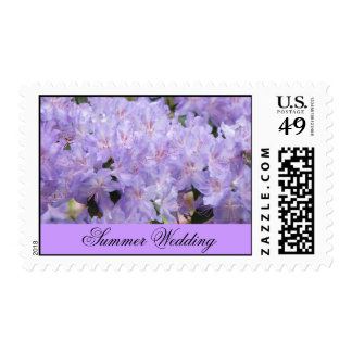 Summer Wedding postage stamps Pink Lavendar Flower