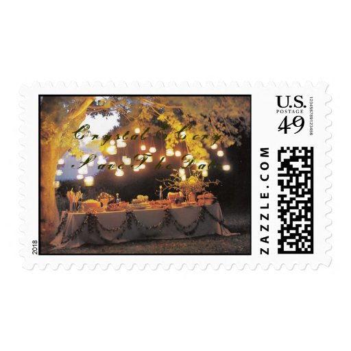 Summer wedding save the date postage stamp