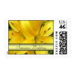 Summer Wedding Stamps - Yellow Lily Postage