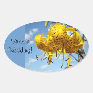 Summer Wedding stickers Weddings seals Invitations