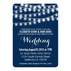 Summer Wedding String Lights Design Card at Zazzle